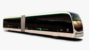 ônibus articulados de 22 metros BYD 100% elétricos