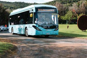 ônibus 100% elétrico entregue em Aucklands